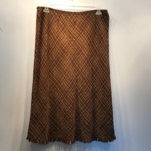 J. Marco Skirts - NWOT Brown and green woven skirt